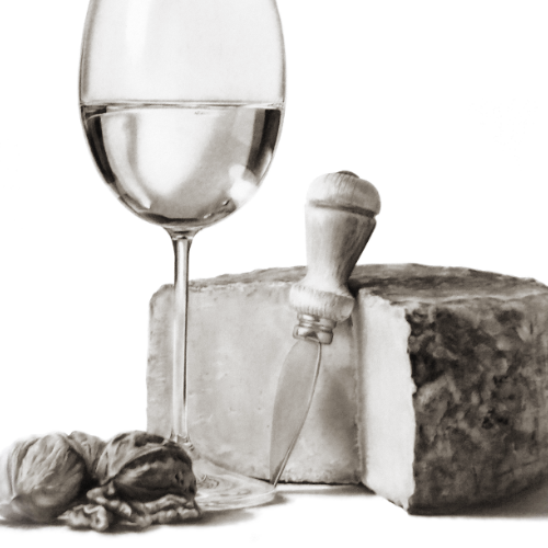 realistic-drawings-from-your-photo-still-life-wine-cheese