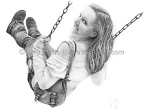 drawing-charcoal-woman-swing-amy-watts