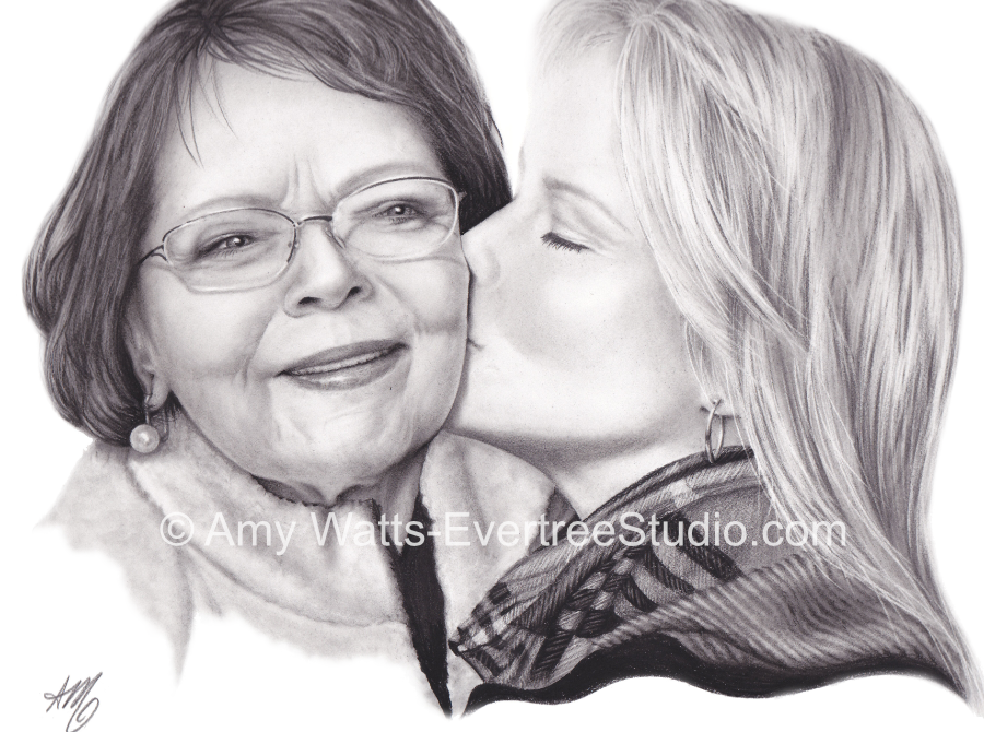 realistic-portraits-of-people-from-photos-mother-daughter-amy-watts