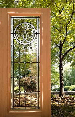 leaded-glass-door-mahoghany-tree